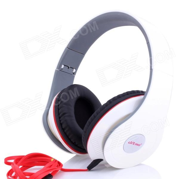 Ditmo 3.5mm Adjustable Foldable Headband Noise Canceling Stereo Headphone - WhiteHeadphones<br>Form  ColorWhiteBrandDitmoModelDM-2600Quantity1 DX.PCM.Model.AttributeModel.UnitMaterialABSShade Of ColorWhiteInterface3.5mmWireless or WiredWiredPowered ByOthers,Power FreeHeadphone Frequency Response20~20000HzImpedance32±15% DX.PCM.Model.AttributeModel.UnitMicrophone Frequency ResponseNoSensitivity94dB S.P.Lat 1KHzSound CardNoOther Features1) Note: This headphone does not have volume control button2) Standard 3.5 mm plug pin fits for different kinds of multimedia device, such as iPod, mp3, mp4, PSP, mobile phone and personal computer 3) One sided design of the earphone line makes you wear and remove the headphone easily 4) Wide head beam and lightweight design makes you feel more comfortable when you use the headphonePacking List1 x Headphone1 x Audio cable (1.2m)<br>