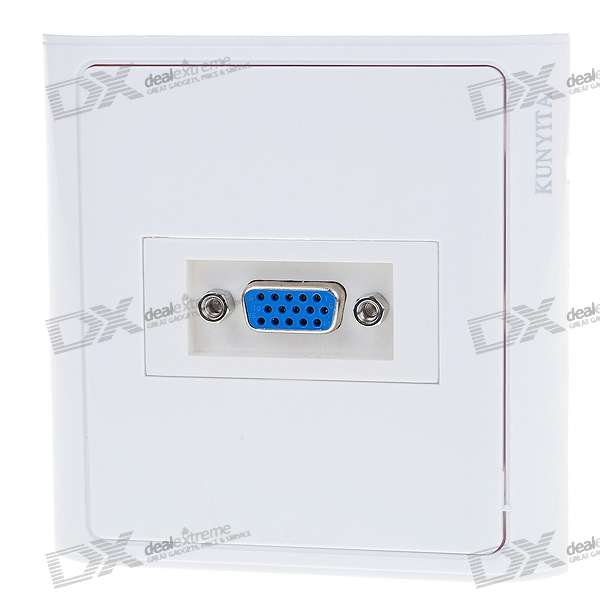 15-Pin Female VGA Placa de pared / pared Outlet