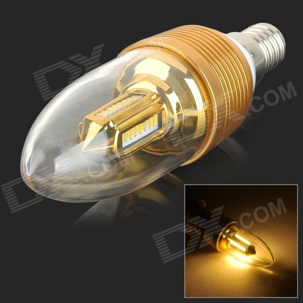 YouOKLight E14 3W 240lm 32-SMD 3014 LED Warm White Candle Lamp - Gold