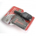 "1.0"" LCD Screen USB Wireless Car MP3 Player w/ Remote Controller + FM + TF Card Slot - Black"