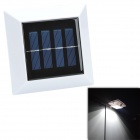CMI YH0416B Waterproof 0.3W 30lm 7000K 4-LED Cold White Light Solar Wall Lamp - White (2V)