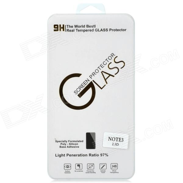 Protective 9H 0.33mm 2.5D Tempered Glass Screen Protector Guard Film for Samsung Galaxy Note 3Screen Protectors<br>Form  ColorTransparentScreen TypeGlossyBrandN/AModelN/AMaterialTempered glassQuantity1 DX.PCM.Model.AttributeModel.UnitCompatible ModelsSamsung Galaxy Note 3Packing List1 x Screen protector1 x Sticker1 x Cleaning cloth1 x Wet tissue<br>