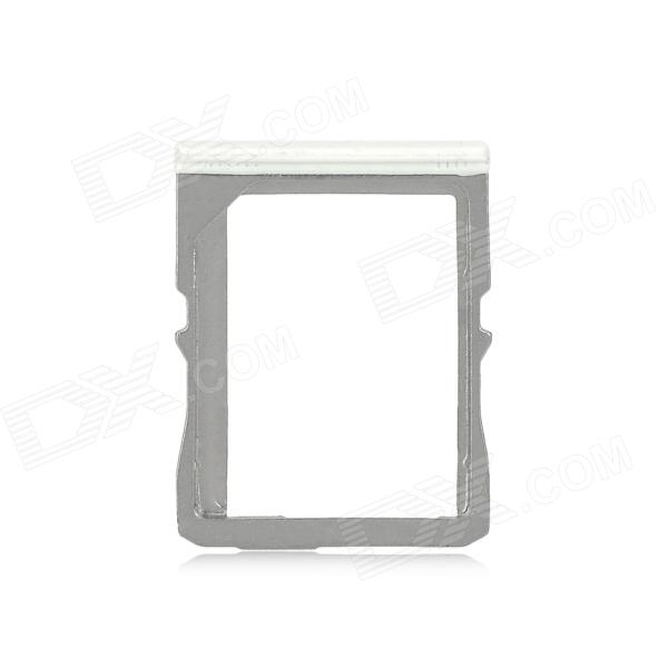 Replacement Micro SIM Card Tray Holder for HTC One M7 - White + Silver