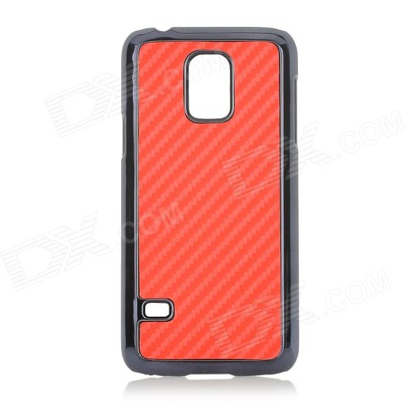 Protective Plastic Back Case for Samsung Galaxy S5 Mini - Red + Black