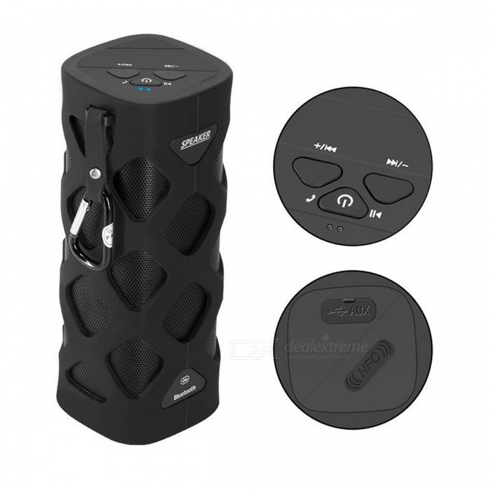 VINA MS-319 Portable Wireless Bluetooth 4.0 NFC Mini Speaker - BlackBluetooth Speakers<br>Form  ColorBlackBrandVINAModelMS-319MaterialABS + ironQuantity1 DX.PCM.Model.AttributeModel.UnitShade Of ColorBlackBluetooth HandsfreeYesBluetooth VersionBluetooth V2.0,Bluetooth V2.1,Bluetooth V3.0,Bluetooth V4.0,Others,CSR4.0Operating Range13MTotal Power2 x 5 DX.PCM.Model.AttributeModel.UnitInterface3.5mmMicrophoneYesFrequency Response80Hz~20KHzImpedance4 DX.PCM.Model.AttributeModel.UnitApplicable ProductsPS3,IPHONE 5,IPHONE 4,IPHONE 4S,IPHONE 3G,IPHONE 3GS,IPOD,IPAD,Others,IPHONE 5S,IPHONE 5C,Cellphone, tablet, laptops and bluetooth devicesBuilt-in Battery Capacity 2000 DX.PCM.Model.AttributeModel.UnitBattery TypeLi-ion batteryCertificationCE, RoHS, NFCPacking List1 x Bluetooth speaker1 x USB Charging cable(120cm)1 x Audio cable(120cm)1 x Carabiner<br>