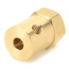 DIY 4mm Hexagonal Coupler Connector for R/C Car - Bronze