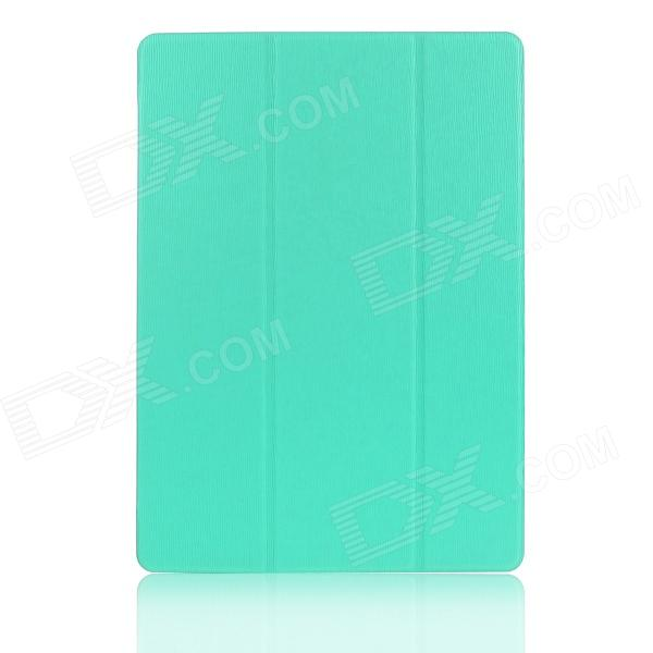 Hat-prince Protective 3-Fold Ultra-thin Case w/ Holder for Samsung Galaxy Tab S 10.5 T800 - Blue