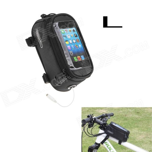 Buy Roswheel Touch Screen Top Tube Saddle Bag for Cell Phone - Black (L) with Litecoins with Free Shipping on Gipsybee.com