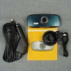 "2.7"" TFT 1080P 3.0MP CMOS G-Sensor Loop Recording 140' Angle Camcorder Car DVR - Brown + Dark Green"