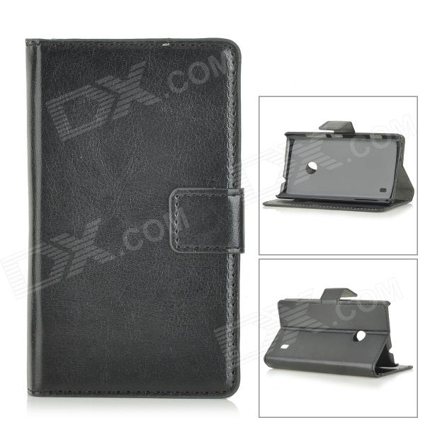 Protective PU Leather Case for Nokia Lumia 520 - BlackLeather Cases<br>Form  ColorBlackBrandN/AModelA-520MaterialPU leatherQuantity1 DX.PCM.Model.AttributeModel.UnitShade Of ColorBlackCompatible ModelsNokia Lumia 520Packing List1 x Case<br>