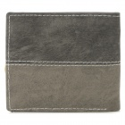 LX-BO138 Air Force Style Canva Casual Wallet for Men - Gray Black