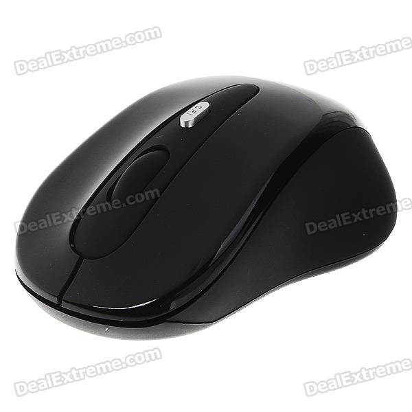 2.4GHz Wireless Optical Mouse con receptor USB - Negro (2 * AAA)