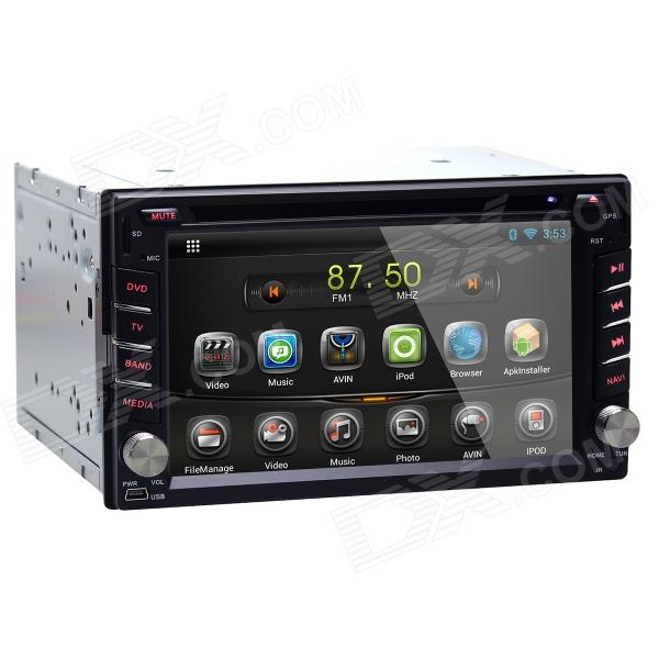 Joyous 1.6G Dual Core Android 4.2 Capacitive Screen Car DVD w/ Radio / GPS / RDS / BT / WiFi / 3G