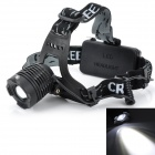 Pange 3-Mode 800lm Rotate Zooming Cool White Headlamp w/ Cree XM-L T6 - Black (2 x 18650)