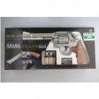 Crown Model S&W M686 .357Magnum 6inch Silver Airsoft