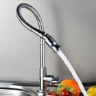 YDL-F-0583-Arbitrary-Rotating-Chrome-plated-Brass-Kitchen-Sink-Faucet-Silver