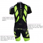 NUCKILY MA005MB005 Men's Cycling Short Sleeves Jersey Clothes + Pants Set - Green + Black (XXL)
