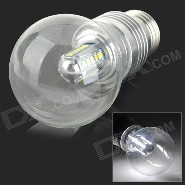 YouOKLight YK0017 E27 5W 450lm 25-SMD 2835 LED Cold White Light BulbLeds<br>Form  ColorSilver + Translucent WhiteColor BINWhiteBrandYouOKLightModelYK0017MaterialAluminum + glassQuantity1 DX.PCM.Model.AttributeModel.UnitPower5WRated VoltageAC 85-265 DX.PCM.Model.AttributeModel.UnitConnector TypeE27Chip BrandHugaEmitter TypeOthers,2835 SMDTotal Emitters25Theoretical Lumens500 DX.PCM.Model.AttributeModel.UnitActual Lumens450 DX.PCM.Model.AttributeModel.UnitColor Temperature6500KDimmableNoBeam Angle180 DX.PCM.Model.AttributeModel.UnitPower5 DX.PCM.Model.AttributeModel.UnitWorking Current- DX.PCM.Model.AttributeModel.UnitColor BINCold WhitePacking List1 x Bulb<br>