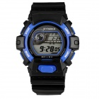 SYNOKE 67556B Fashion Sport Rubber Band LED Digital Wrist Watch w/ Alarm Clock / Stopwatch - Black