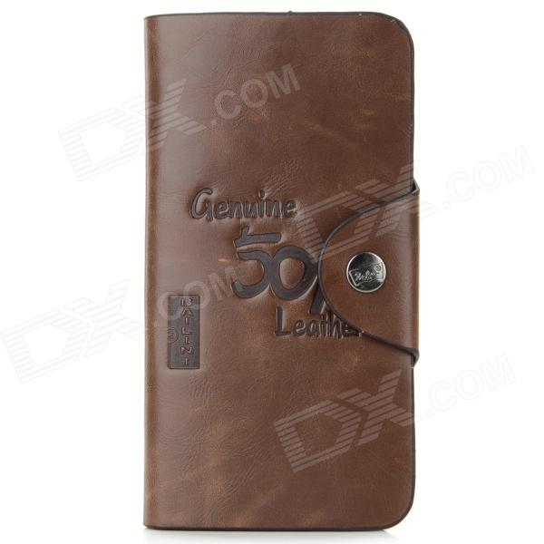 WB-WPBI Mens Casual Split Leather Long Style Wallet - CoffeeWallets and Purses<br>Form ColorCoffeeBrandN/AModelWB-WPBIQuantity1 DX.PCM.Model.AttributeModel.UnitShade Of ColorBrownMaterialSplit leatherGenderMenSuitable forAdultsStyleCasualWallet Dimensions18.5 x 9.5 x 2cmOther FeaturesWith 16 card slots and one photo slot.Packing List1 x Wallet<br>