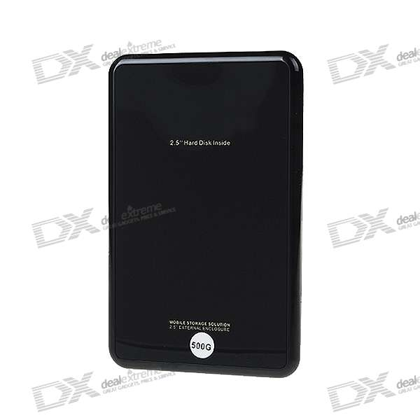 "Seagate 2.5"" SATA Hard Drive with External USB 2.0 Enclosure (500GB)"