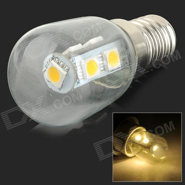 HH042 E14 1W 60lm 3200K 7-SMD 5050 LED Warm White Light Bulb - White (AC 220V)E14<br>ColorWhiteColor BINWarm WhiteModelHH042MaterialAluminum + glassQuantity1 PiecePower1WRated VoltageAC 220 VConnector TypeE14Chip BrandEpistarEmitter Type5050 SMD LEDTotal Emitters7Actual Lumens30~60 lumensColor TemperatureOthers,2700~3200KDimmablenoBeam Angle360 °Packing List1 x Bulb<br>