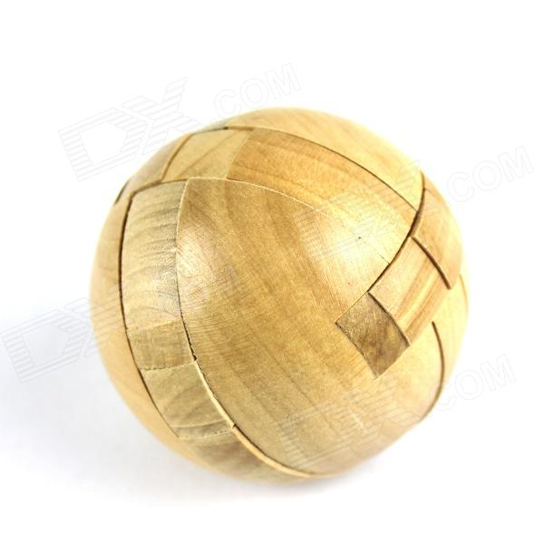 Wooden Fun Ball Puzzle Toy for Kids - WoodEducational Toys<br>Form  ColorWoodBrandN/AModelN/AMaterialWoodQuantity1 DX.PCM.Model.AttributeModel.UnitSuitable Age 5-7 years,8-11 years,12-15 years,Grown upsPacking List1 x Toy<br>