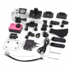 "Water Resistant FPV HD 2.0"" LTPS CCD Wide Angle Sports DV Camera w/ Wi-Fi - Pink + Black"