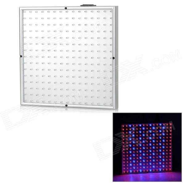 WS-PR0P14 14W 400lm 225-LED Red / Blue Light Plant Growth Lamp - Wood Color + Silver (AC 85~265V)