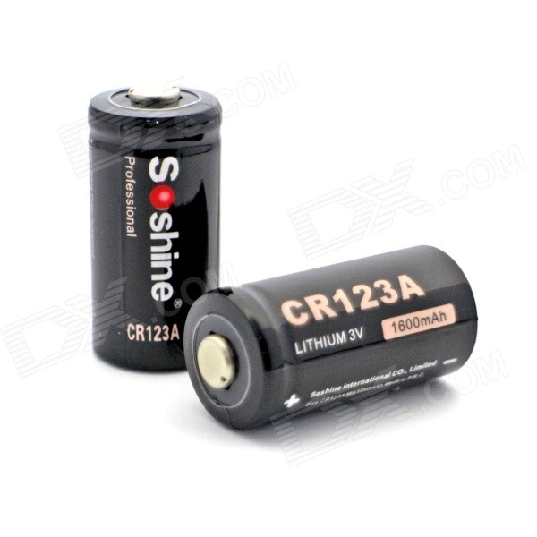 Soshine Cr123a 3v Disposable Lithium Batteries 2 Pcs Free