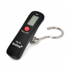 "WH-A18 Portable 1.2"" LCD Electronic Luggage Hanging Hook Scale - Black (1 x CR2032)"
