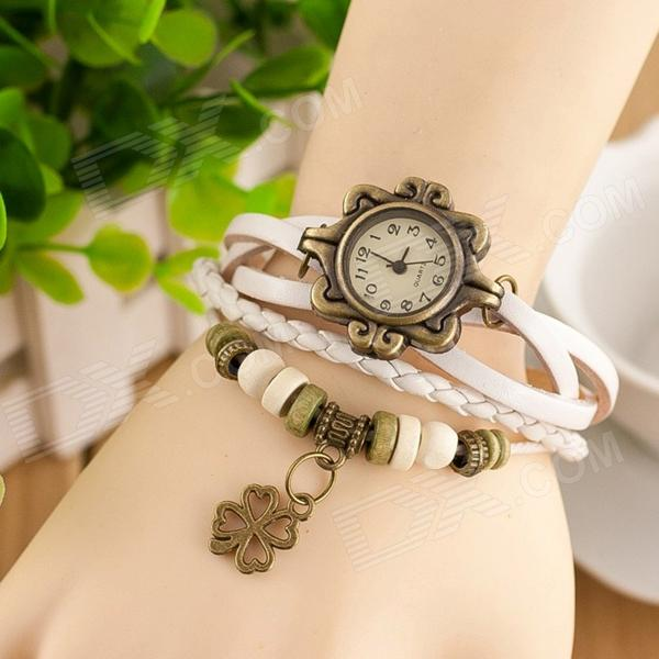 ZIQIAO Stylish Charm Bracelet Style Analog Quartz Wristwatch