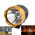KINFIRE 7.2~8.4V 600lm 3-Mode White Bicycle Light w/ CREE XM-L T6 - Gold + Grey