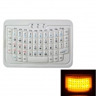 iPazzPort Mini 54-key Bluetooth Keyboard for IPHONE / IPAD / Cellphone / Tablet PC - White