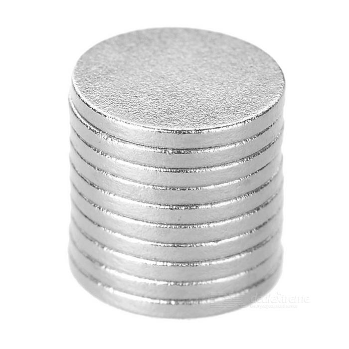 Super-Strong Rare-Earth RE Magnets (10-Pack 9 mm) Also Suitable for Extending 18650/CR123A Batteries