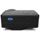 H80 Portable Home Theater Projector LED w / HDMI / AV / VGA / USB / SD - Noir