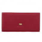 C.S.C QF733A2 Women's Stylish Head Layer Cowhide Purse Wallet - Red