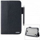 "AiSMei Protective PU Case w/ Stand / Card Slots for Samsung Galaxy Tab 4 7"" T230 - Black"