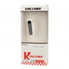 KONCEN L003 Bluetooth V4.0 Ear-hook Style Headphone w/ Voice Caller ID / Microphone - White