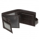 C.S.C HB2006SI Men's Fashion Buckle Design Leather Wallet - Brown