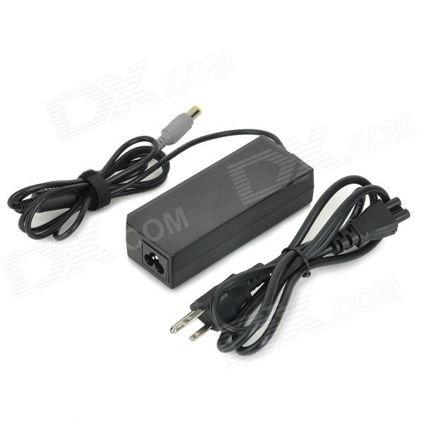 High-Quality 90W 20V 4.5A Power Adapter w/ AC Power Cable for Lenovo Laptops - Black (100~240V)