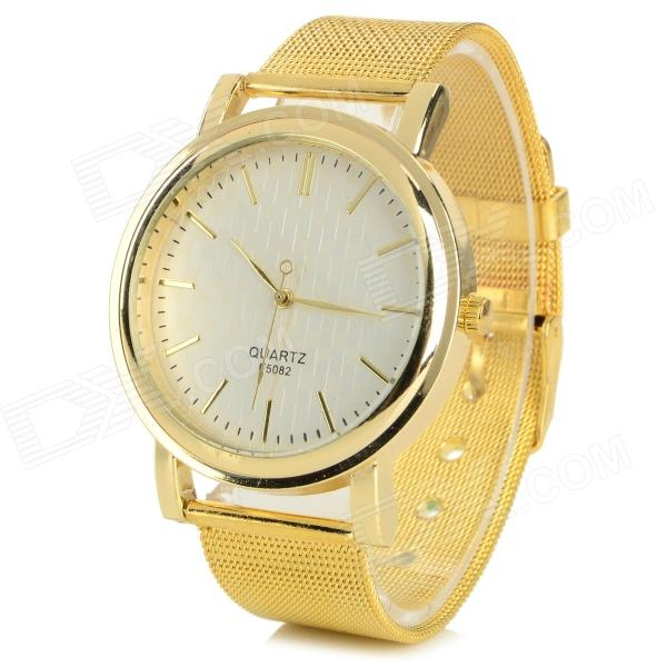Womens Fashionable Zinc Alloy Band Analog Quartz Wrist WatchWomens Dress Watches<br>Form  ColorGoldBrandN/AQuantity1 DX.PCM.Model.AttributeModel.UnitGenderWomenSuitable forAdultsCasing MaterialZinc alloyWristband MaterialZinc alloyShade Of ColorGoldStyleWrist WatchTypeFashion watchesDisplayAnalogMovementQuartzDisplay Format12 hour formatDial Diameter3.5 DX.PCM.Model.AttributeModel.UnitDial Thickness0.7 DX.PCM.Model.AttributeModel.UnitBand Width1.9 DX.PCM.Model.AttributeModel.UnitWristband Length23 DX.PCM.Model.AttributeModel.UnitBattery1 x 377 (included)Packing List1 x Watch<br>