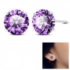 EQute ESIW12S8C6 Women's Fashionable Earrings Ear Studs - Purple (Pair)