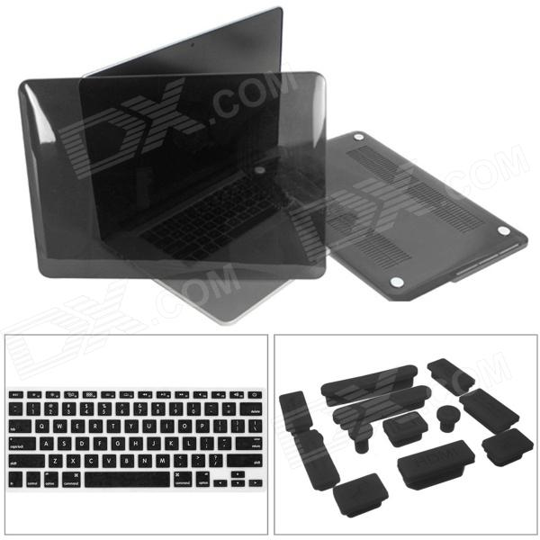 Mr.northjoe 3 -in-1 PC Case + Keyboard Cover + Anti-dust Plugs for Retina Macbook Pro 13.3""