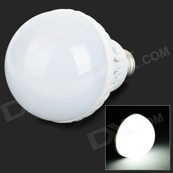 E27 12W 6500K 24-SMD 5730 LED White Light Lamp Bulb (AC 220V)