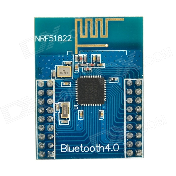 Waveshare nRF51822 2.4GHz Wireless Bluetooth V4.0 Development Board Module w/ Antenna - Deep BlueBoards &amp; Shields<br>ColorDeep BlueBrandWaveshareModelN/AQuantity1 PieceMaterialPCBEnglish Manual / SpecNoPacking List1 x Board<br>