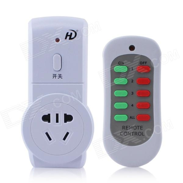 Wireless AU Plug-in Socket w/ Remote Controller / 220V 10A - White