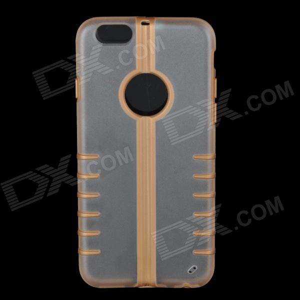 "Foldable Protective TPU + PC Back Case for 4.7"" IPHONE 6 - Golden + Transparent"