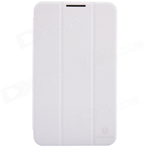 NILLKIN Protective Flip Open PC + PU Leather Case w/ Stand for Asus Fonepad 7 (FE170CG) - White