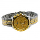 MIKE Men's Business Casual Steel Band Analog Quartz Wrist Watch - Golden + Silver (1 x 626)